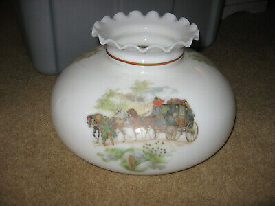 Replacement parts GLASS GLOBE Horses Buggy Gone with Wind Hurricane Light Shade
