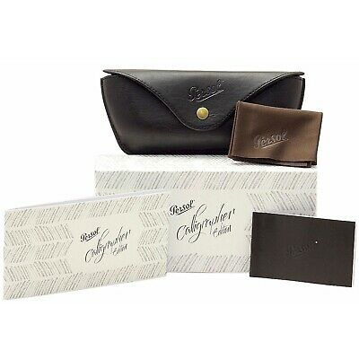 Case for Sunglasses Persol Calligrapher Holder Black Eco-Leather Cloth