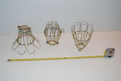 NEW VINTAGE Reproduction BRASS PLATED DROP LIGHT CAGE INSPECTION TROUBLE