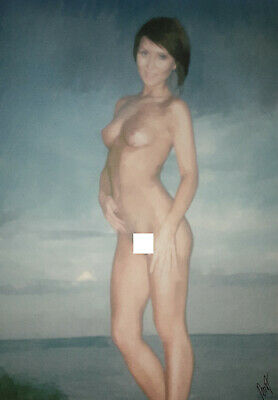Original Art Painting nude woman female