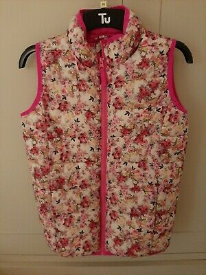 Joules Girls Pink Floral Gilet Bodywarmer Age 8 New without tags