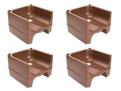 (4-Pack) BROWN Plastic Stackable Restaurant Child Booster Chair Seats