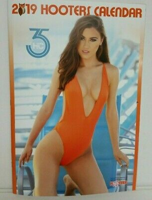 2019 Hooters Calendar 11 x 17 Swimsuit Edition Poster & Coupons Inside New
