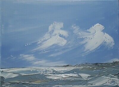Original artwork seascape oil abstract acrylic impressionist canvas painting