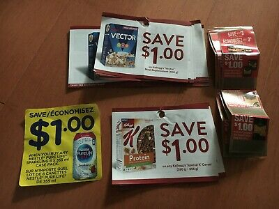 Lot of Coupons - Kelloggs Vector Special K Nestle Black Diamond SAVE $31 TOTAL