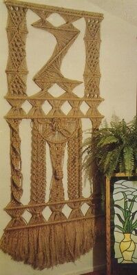 Make This Vintage Macrame Wall Hanging - Pattern Only In Pdf Format