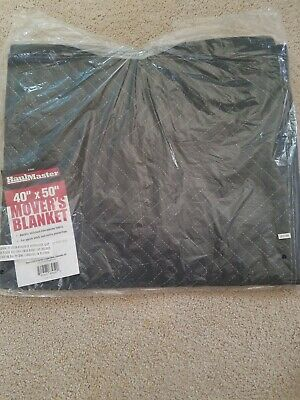 "4 - HAUL MASTER Moving Blankets 40""X50"" Double Stitched Shipping Furniture Pads"
