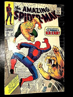 SPIDER-MAN 57 (Marvel 2/68 GVG non-CGC)! NR! 12c SILVER-AGE! STAN LEE!! KA-ZAR!