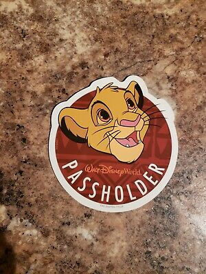 Disney World Passholder Simba MAGNET Lion King Animal Kingdom and guide map