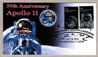 2019 - 50Th Anniversary Moon Landing ~ Therome Cachet First Day Cover