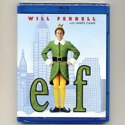 Elf 2003 PG Christmas comedy movie, new Blu-ray, Will Ferrell James Caan holiday
