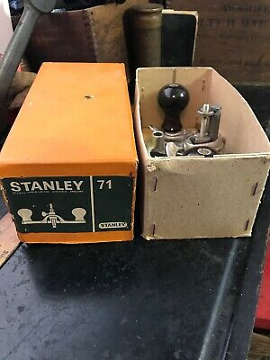 Excellent Stanley No. 71 Router Plane In Box Vintage Made In England