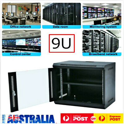 9U Network Data Rack Cold Rolled Steel Wall Mounted Server Cabinet 400mm Deep 8Z
