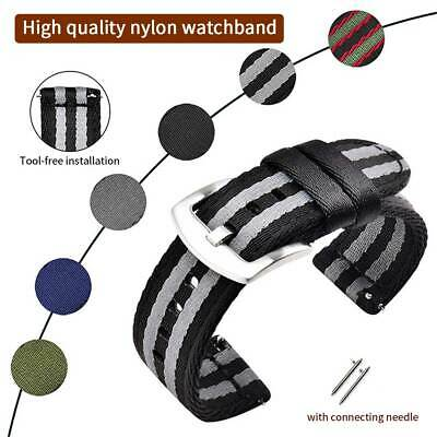 18mm/20mm/22mm Universal Nylon Wrist Strap Quick Release Universal Watches Band