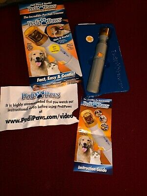 NEW Pedi Paws Dog Cat Claw Pet Nail Trimmer Many Uses Craft Home Sander