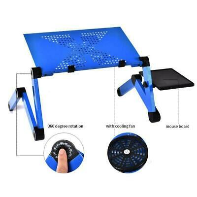 Adjustable Aluminum Alloy Laptop Table Portable Folding Desk For Sofa + Bed