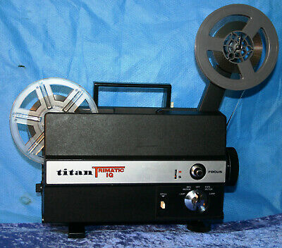 SUPER & STANDARD 8mm SILENT MOVIE PROJECTOR TITAN TRIMATIC IQ NEW LAMP SERVICED