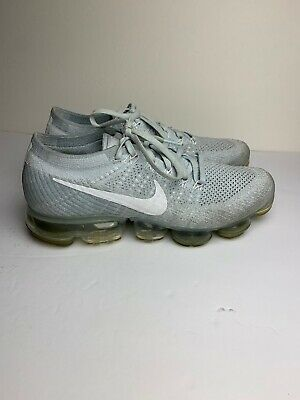 Nike Air Vapormax Flyknit Pure Platinum Grey White 849558-004 US sz 9.5