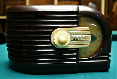 Vintage Old Antique Zenith Tube Table Radio,1939;Restored,Works,Lowered Reserve!