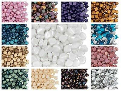 CHOOSE COLOR! 30pcs Ginko Beads, 7.5x7.5mm, 2 Holes, Czech Pressed Glass