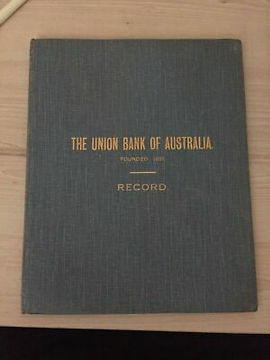 Union Bank of Australia Record 1931 with letter