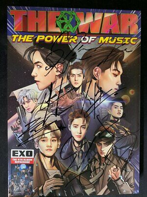 EXO - [THE WAR] - Autograph(Signed) ALL MEMBER  PROMO ALBUM KPOP
