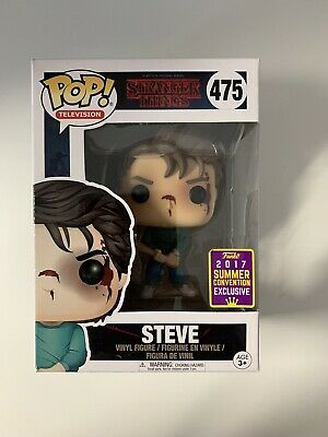 Brand New!Funko Pop Stranger Things Steve #475 SDCC 2017 Exclusive