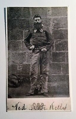"NED KELLY Old ""Melbourne Gaol"" From Original Picture, Post Card. Bushranger's"