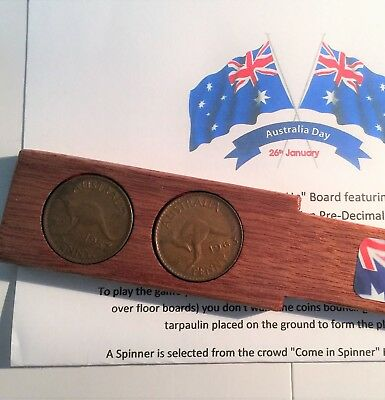 "Australia Day ""Two-Up"" Set With 2 x Australian Circulated Pennies, Coins, Gift"