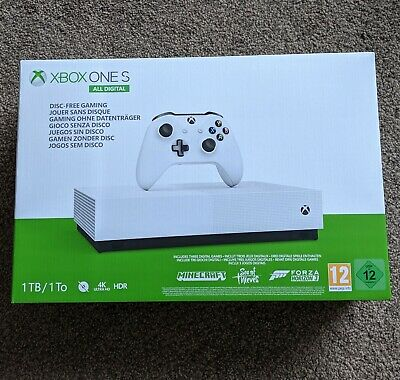 Xbox One S 1 TB All-Digital Edition Console (new & sealed) + 3 game bundle