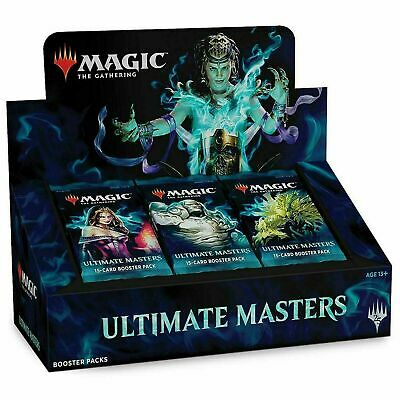 Magic the Gathering Ultimate Masters Booster Box Factory Sealed W/ Box Topper