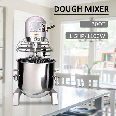 30Qt 1.5HP Electric Food Stand Mixer Dough Mixer Cooking restaurants Commercial