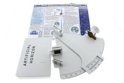 Davis Mark 3 Sextant Bundle w/ Artificial Horizon & Celestial Nav Chart, 3 Items