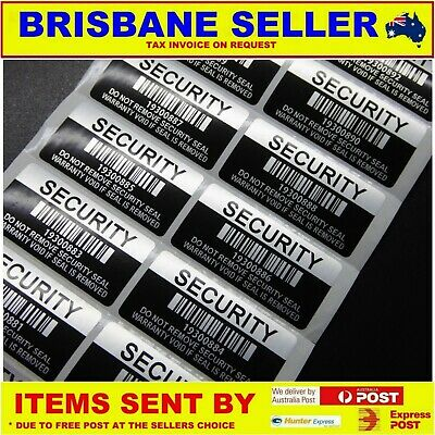 SECURITY LABELS WARRANTY VOID STICKERS 100 x TAMPER PROOF 40 x 20mm VOID