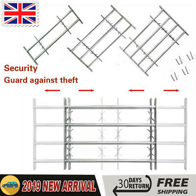 Adjustable Security Grille for Windows with 2/3/4 Solid Crossbars Protector Home