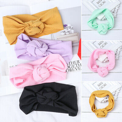 Soft Baby Kids Toddler Bow Knot Hair Band Headband Stretch Turban Headwrap New