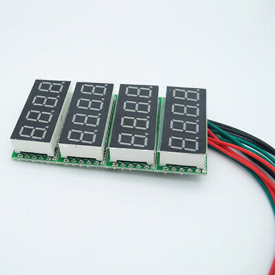 0-33V Red/Blue/Green LED LCD Voltage DC 0.36 Four Digital Panel Volt Meter