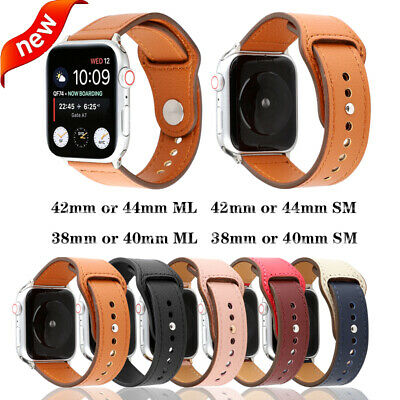 Retro Genuine Leather Matte Band Men&Women Casual Strap for Apple Watch iWatch