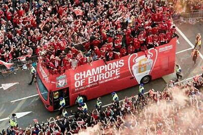 LIVERPOOL 2019 CHAMPIONS LEAGUE WINNERS PROFESSIONAL PHOTOGRAPH 12x8