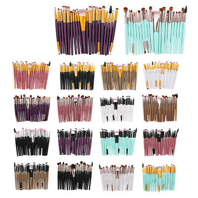 20 Pcs Make Up Brushes Set Foundation Eyeshadow Eyeliner Lip Powder Makeup Tools