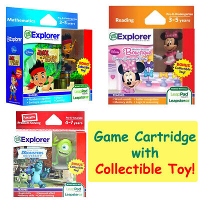 LeapFrog Education Learning Game Leapster LeapPad Cartridge w Disney Toy Figure