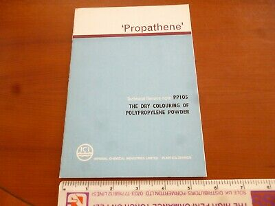 Ici Propathene Dry Colouring Of Polypropylene Powder 1966 Booklet *As Pictures