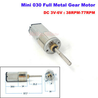 N20 Right Angle Micro Full Metal Gear Box Motor DC 6V 6RPM for 3D Printing Pen