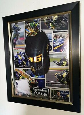 *** NEW VALENTINO ROSSI Signed Autographed CAP HAT Autograph Display ***