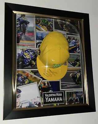 ***  VALENTINO ROSSI Signed Autographed CAP HAT Autograph Display ***