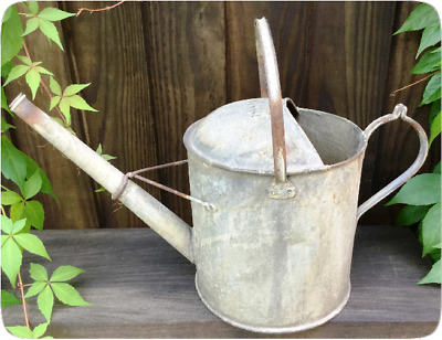 Galvanised Watering Can  - Planter - Vintage - Aged
