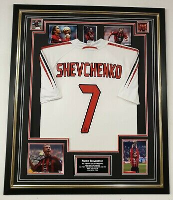 Andriy Shevchenko SIGNED PHOTO PICTURE Autographed Display With Shirt