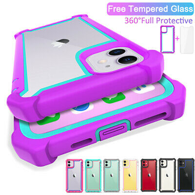 For iPhone 11 Pro Max Heavy Duty Full Shockproof Hybrid Rugged Clear Case Cover