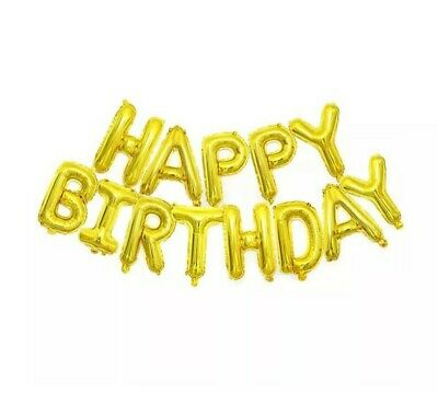 """HAPPY BIRTHDAY16""""inch SELF-INFLATING BALLOON BANNER BUNTING PARTY LARGE BALOONS"""