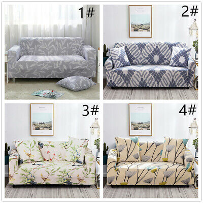 1/2/3 Sofa Covers Couch Slipcover Stretch Elastic Fabric Settee Protector Fit mk